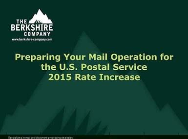 Preparing for the 2015 Postage Rate Increase